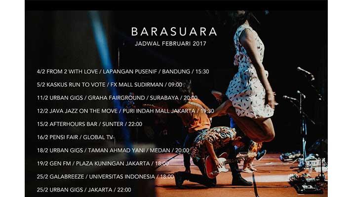 Jadwal Barasuara Februari 2017