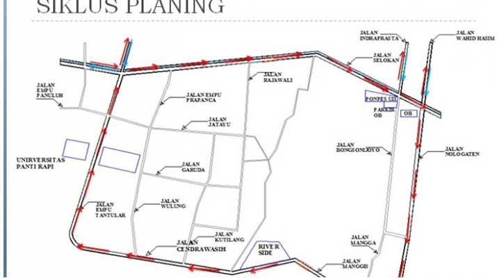 Rencana ekayasa Lalin Jalan Selokan Mataram Jadi Searah