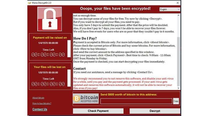 Terinfeksi Ransomware WannaCry