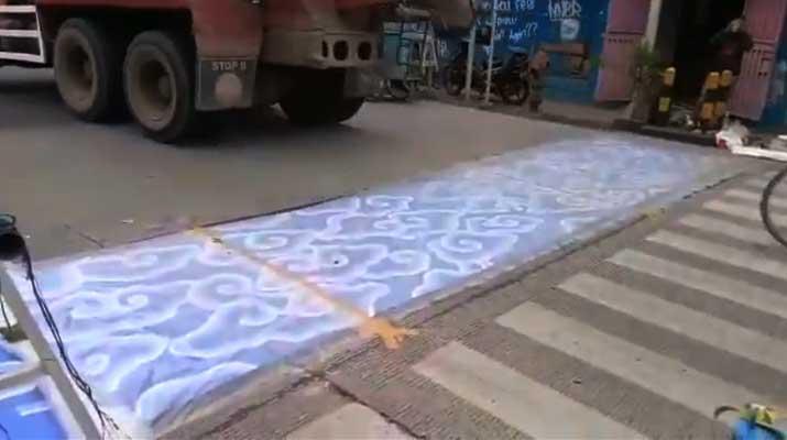 Mural Motif Batik