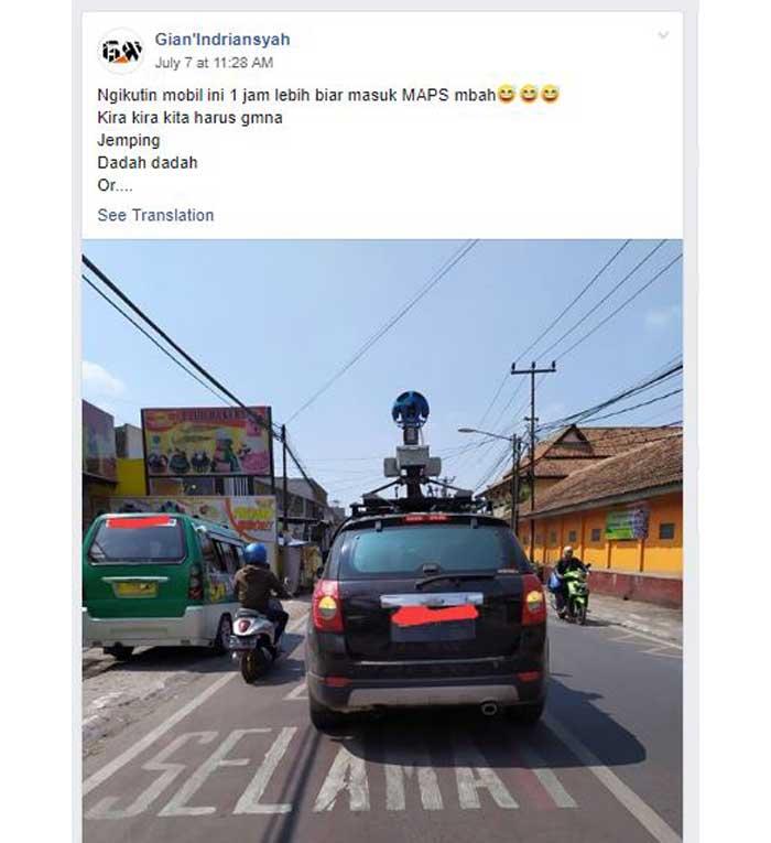 Mobil Google Street View
