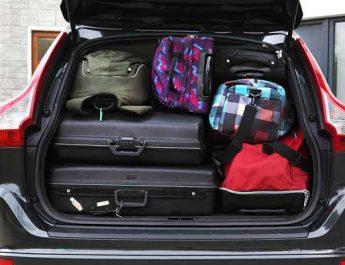Ilustrasi bagasi mobil